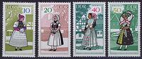 ALEMANIA/RDA EAST GERMANY 1968 MNH SC.992/95 Sorbian regional costumes
