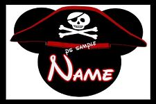 4x6 Disney Cruise Stateroom Door Magnet - PIRATE HAT MICKEY - PERSONALIZED