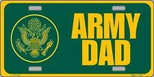 Aluminum Military License Plate Army Dad  NEW