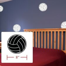 Volleyballs Decal boys Girls room decor, Volley balls fathead style wall decals