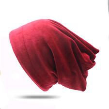 Women's Hat Beanie Baggy Silk Velvet Winter Skull Hats Cap Lady Men's Slouch Hat
