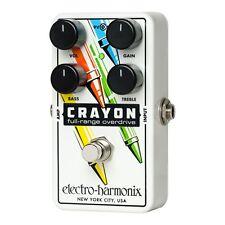 Electro-Harmonix CRAYON-76 Full Range Overdrive Guitar Effect Pedal +Picks