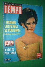 TEMPO 7/1964 SOFIA LOREN GIGLIOLA CINQUETTI VINCE SANREMO MINA FEDERICO FELLINI