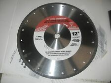 "Milwaukee 12"" Dry Cutting Diamond Blade"