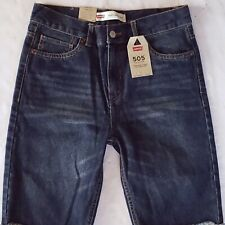 Levi's 505 Shorts Boy's Blue Size 18 29W Denim New
