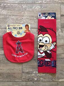 All Pro Bib and Burp Cloth rag Los Angeles Little Angels fan Monkey Baseball