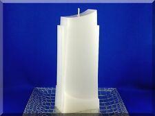 Edle Kerze Rohling Doppelschwung weiß - Sonderform - Kerzenkunst
