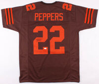 Jabrill Peppers Signed Cleveland Browns Football Jersey (JSA COA) Autographed