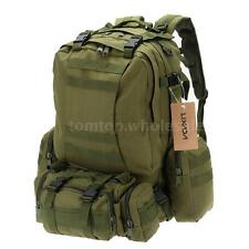 Outdoor 55L Tactical Backpack Military Bag Hiking Camping Rucksack Molle M3O6