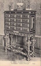 BF11364 le chateau cabinet por facade nor azay le rideau france front/back image