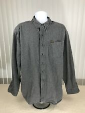 Mens Woolrich Long Sleeve Button Shirt Sz 2xl Sportsman Chamois outdoor gray