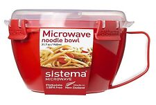 Sistema Microwave Noodles Maker Bowl Cooker Dish with Lid Microwave Safe NEW