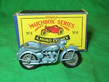 Matchbox Moko Lesney 4 Triumph 110 Motor Cycle & Sidecar original & boxed