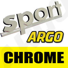 CHROME SPORT BADGE SILVER 3D EMBLEM DECAL STICKER FORD TRANSIT VAN