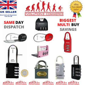 Combination Padlock 3/4 Digit Security Luggage Gym Travel Suitcase Shed Toolbox