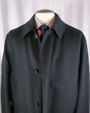 New no tag Oakhall TrenchPeacoat Car Length 48R Black Charchoal Coat Jacket