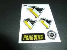 PITTSBURGH PENGUINS TEAM HOCKEY NHL LOGO CARD STICKER 1990s MACHINE VENDING