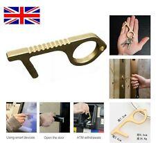 Contactless Hand Hygiene Antimicrobial Brass EDC Door Opener Elevator Handle Key