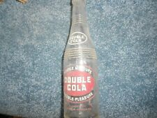 "Double Cola vintage glass bottle empty, 9 1/4"" tall, GD"