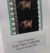 Authentic Lord Of The Rings TWO TOWERS Movie Film Strip 5 Cells ONE RING TO RULE