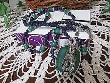 "lia sophia civic necklace 36-39"" genuine green/purple bling Rhinestone long"