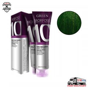 MORFOSE10 Hair Color Cream - ARGAN OIL - Special Herbal Complex - GREEN - 100ml