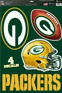 """Green Bay Packers 11""""x17"""" Sheet of Four Vinyl Fathead style decals Cut to Shape"""
