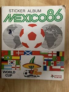 Panini Mexico 86 World Cup Album Incomplete - 214 Of 427 Stickers