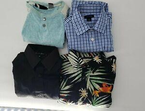 Boys Clothes Size 10/12 Lot Of 4 Shirts Vans Hilfiger Johnnie Lane Volcom