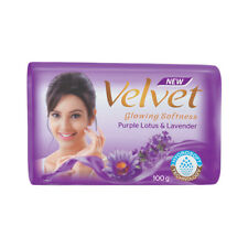 4 Pcs*100G Velvet Purple Lotus Lavender Glowing Softness Bathing Soap 65% Tfm