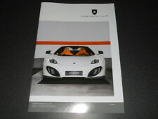 GEMBALLA McLAREN MP4-12C & 650S brochure catalogue - édition 2016 très rare !!