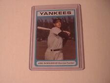 1983 Bowery Savings Bank New York Yankees Joe DiMaggio Baseball Card