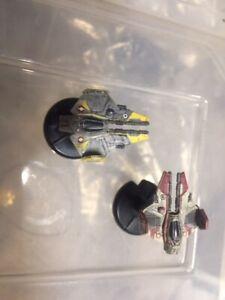 Star Wars Miniature Battles 2x Jedi Star Fighter Star Wars X Wing X-wing Scale