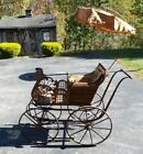 Antique 1880's Wakefield Rattan Co NYC Large Ornate Baby Wicker Pram/Carriage