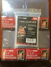 100 Ultra Pro Regular 3 x 4 Toploaders New top loaders + 100 soft sleeves bundle