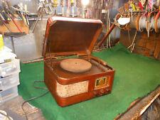 Antique Crosley radio & turntable Model No. 56-TP-L art deco tube Works R
