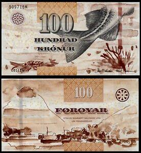 FAEROE ISLANDS 100 KRONUR (P30) N. D. (2011) UNC