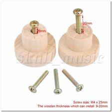 20pcs Round Superba Wood Pull Knob Handles 35x25mm for Cabinet Door Cupboard