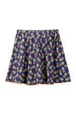 Nordstrom Girls Harper Canyon Printed Pom Pom Skirt Denim Blue Pineapple M 8-10