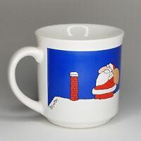 Coco Dowley Fine Ceramic 4 Mug Set Christmas Santa Claus