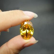 Golden Yellow Sapphire 7.54Ct 10X12MM Oval Shape AAAAA VVS Loose Gemstone