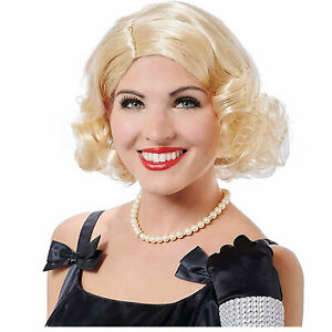 Womens Retro Housewife 1950s Maisel Halloween Costume Curly Short Blonde Wig