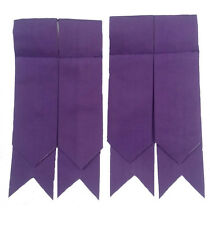 highland Kilt Hose Flashes Purple Color/Highland Purple Kilt Hose Socks Flashes