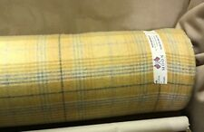 Abraham Moon Fabric 100% Wool Yellow Tartan Upholstery Weight fabric SAMPLE ONLY
