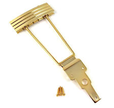 Kluson Gold Finish Vintage Deco Trapeze Tailpiece for Archtop Guitar KLTP-G