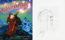 Michael Hague SIGNED AUTOGRAPHED The Book of Wizards +SKETCH HC 1st Ed 1st Print