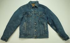 Rare Vintage LEVI STRAUSS & CO Red Tab Blanket Lined Denim Jean Jacket 90s 40L