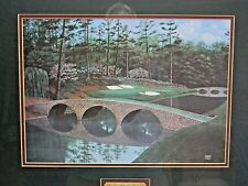 """Beautiful Augusta 12th Hole """"Golden Bell"""" George Griff Signed Lithograph 1993"""