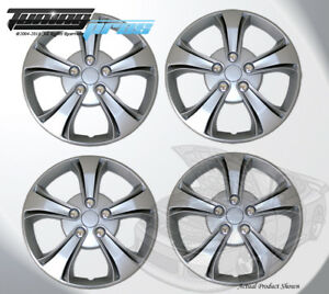 "Pop-On Wheel Rims Skin Cover 15"" Inch Silver Hubcap 15 Inches #616 Qty 4pc"