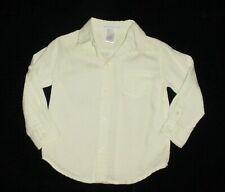 Euc Janie & Jack Boys Shark Watcher Lt. Green Linen Dress Shirt 18-24 M Vhtf